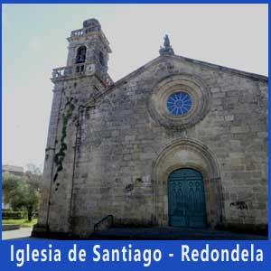 Iglesia de Santiago en Redondela, Pontevedra, hito del Camino Portugués de Santiago