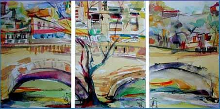 El artista plástico Juan Cruz Crinejo de Córdoba, Argentina y su serie de obras en acuarela
