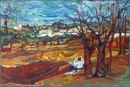 Obra realizada en óleo por el artista plástico Jorge Cruz Crinejo, nacido en el barrio de San Vicente, Córdoba, Argentina