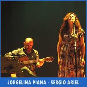 El binomio Jorgelina Piana - Sergio Ariel realizando temas de su espectáculo Utopía en el Ferstival Argentino de Vigo, Julio 2017