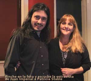 Patricia Stable con Juan Imperial, locutores argentinos