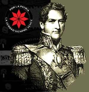 Imagen del General Juan Manuel de Rosas, lider de la Confederación de provincias de Argentina en el Siglo XIX