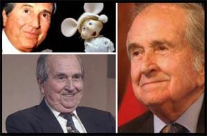 Trítico fotográfico con imágenes de distintas épocas de Juan Carlos Mareco, Pinocho, gran animador de radio  y televisión que ha triunfado en Argentina pero que es nacido en Carmelo, Uruguay