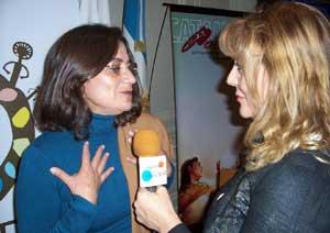 La gobernadora de la provincia de Catamarca, Doña Lucía Corpacci, entrevistada para el programa Viajar es un placer, de Buenos Aires, Argentina, por la periodista Beatriz Jumilla