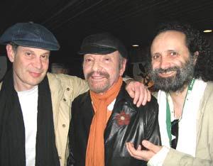 El pianista argentino Juan María Solare, primero por la derecha, junto al poeta uruguayo Horacio Ferrer y al músico argentino Eduardo Hohan