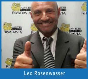 Leo Rosenwasser, locutor de radio y televisión de Argentina. Programas en emisoras de Buenos Aires