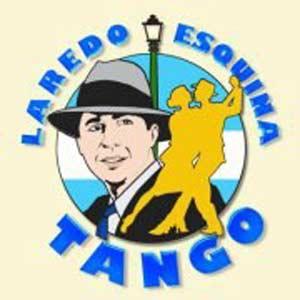Logotipo del programa de radio Laredo... esquina Tango que realiza el argentino Honorio Guerra Gómez