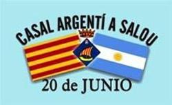 Logotipo del Casal Argentino de Salou 20 de junio. En catalán: Casal Argenti a Salou