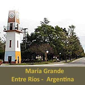Localidad de María Grande, Provincia de Entre Ríos, Argentina. Explotaciones agropecuarias y aguas termales