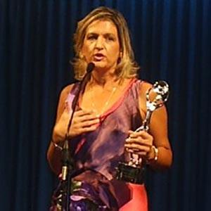 María José Peláez, periodista y locutora española, nacida y residente en Madrid, en el momento de recibir el premio Antena de Oro por su trayectoria profesional en radio y televisión