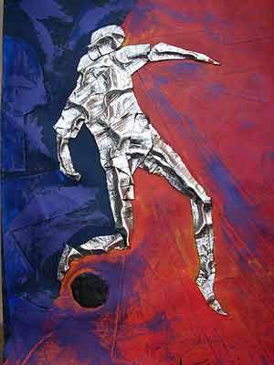 Hechizo de campeón, pintura de Alejandro Marmo, artista plástico argentino