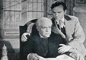 Fotograma de la película argentina Su mejor alumno, con Enrique Muiño carecterizado como Domingo Faustino Sarmiento, y el actor argentino Ángel Magaña