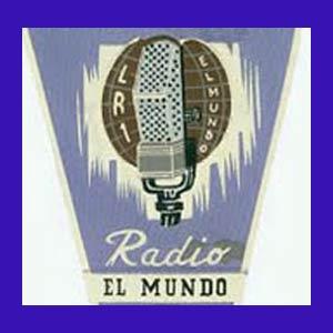 Logotipo de LR1 Radio El Mundo de Buenos Aires, Argentina, la gran escuela de radio del país