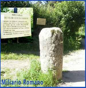 Miliario romano de Vilar, en Redondela, Pontevedra, itinerario del Camino Portugués de Santiago