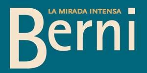 "Logotipo de la muestra ""Berni La Mirada Intensa"" en la Real Academia de Arte San Fernando, Madrid, España, con obras del artista rosarino Antonio Berni"
