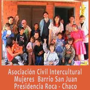 Actividad social de apoyo a la población de Barrio San Juan en Presidencia Roca, Provincia de Chaco, Argentina