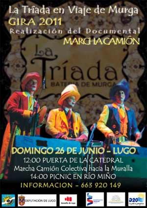 Marcha Camión en Lugo organizado por la Asociación de Inmigrantes y Retornados Rioplatenses de Lugo, Galicia, España