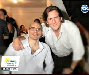 Guillermo Pereyra, ingeniero biomedico, y Leandro Simeoni, empresario y comunicador, ambos de Rosario, Argentina, fundadores de la empresa Nómines creada para encauzar laboralmente a personas con discapacidades física o psíquicas