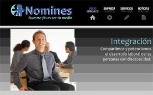 Home page o página de entrada en la web  www.nomines.com.ar , empresa de servicios de Rosario, Argentina