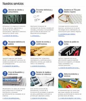 Serivicios que presta la empresa www.nomines.com.ar de Rosario, Argentina