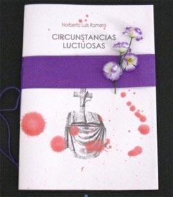 """Portada del libro """"Circunstancias luctuosas"""" del escritor argentino Norberto Luis Romero"""