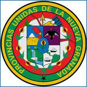 Escudo de Las Provincias Unidas de la Nueva Granada, demarcación territorial en la conquista española de América que actualmente es Colombia - Argentina Mundo Web editada en España
