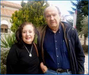 Iris Iglesias y Oscar Velasco, artistas argentinos vinculados al teatro, la televisión, la literatura y el tango. Viven en Alcalá de Henares, España