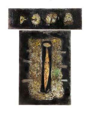 Pachamama, obra de Marta Arangoa, artista plástica argentina nacida en Lonquimay, La Pampa. La foto de portada es de Horacio Echaniz, en blanco y negro en el original