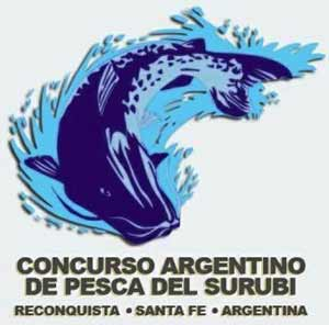 Cartel del Concurso Argentino de Pesca del Surubí, en Reconquista, provincia de Santa Fe, Argentina