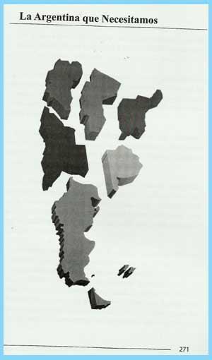 Propuesta de Nicolás Juan Piovano (Lino Piovano) para reestructurar la división politica de Argentina, eliminando provincias