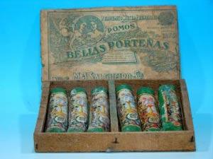 Pomos Las Bellas Porteñas que se fabricaban en Buenos Aires, Argentina, a finales del Siglo XIX