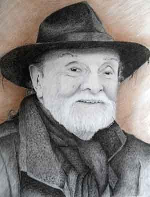 Retrato del argentino Poni Micharvegas, obra del pintor mendocino Julio Ovejero