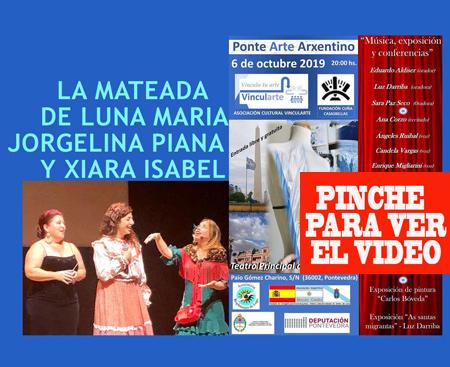 Artistas del elenco de Ponte Arte Arxentino vivieron una mateada a la mejor manera criolla en el escenacio del Teatro Principal de Pontevedra - Octubre 2019
