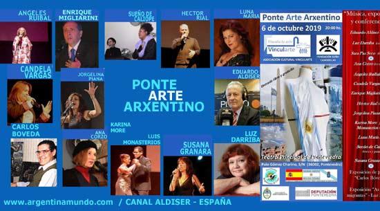 Elenco del evento Ponte Arte Arxentino / Argentino -Teatro Principal de Pontevedra, Galicia, España - Octubre 2019
