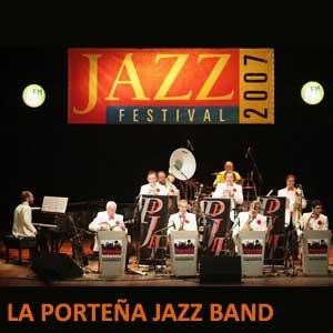 La Porteña Jazz Band, conjunto argentino de jazz, en una de sus presentaciones del 2007.