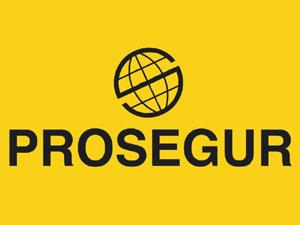 Logotripo de la empresa española Prosegur, creada en 1976 por Heriberto Gut y dirigida tras su fallecimiento por su esposa, Helena Revoredo Delvecchio, nacida en 1947 en Rosario, Argentina