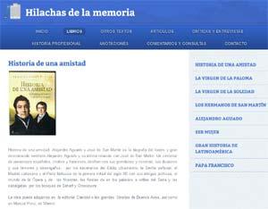 Seccion Libros de la Web www.armandorubenpuente.com llamada Hilachas de la memoria