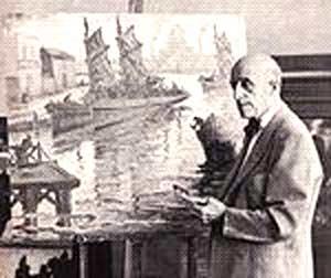 Benito Quinquela Martín, pìntor argentino del barrio de la Boca, Buenos Aires
