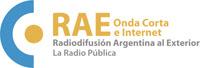 Logotipo de RAE Radio Argentina al Exterior de Radio Nacional de Argentina, trasmisiones de Onda Corta e Internet