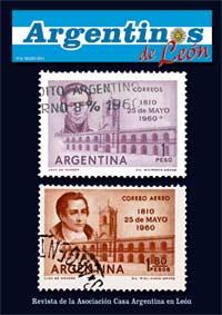 Portada de la revista Argentinos de León, publicada en la ciudad española por la Asociación Casa Argentina en León