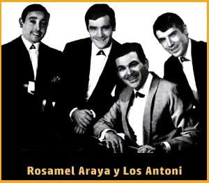 Uno de los tríos que acompañó a Rosamel Araya, Los Antoni, en sus actuaciones por toda Argentina