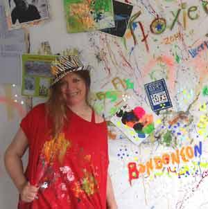 Roxiere, la artista plástica argentina que reside en Colorado, EEUU