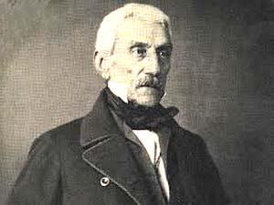 Imagen de José de San Martín en sus años de retiro en Francia