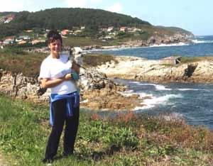 Sandra del Zotto, periodista argentina que reside en Arteixo, costa del Atlántico, Provincia de La Coruña, Galicia, España