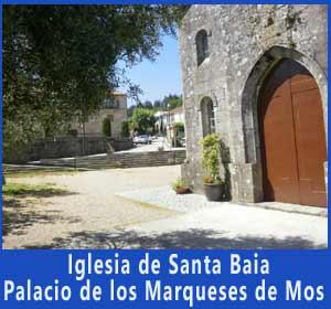 Iglesia de Santa Baia en Santa Eulalia de Mos, provincia de Pontevedra, camino portugués de Santiago