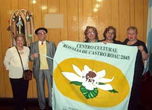 Actividades del Centro Cultural Rosalía de Castro Roac 2045 con la presencia de su directora, la escritora argentina Stella Maris Latorre, la primera por la derecha