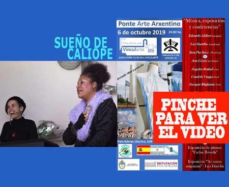 Sueño de Calíope trajo desde Vigo las canciones de este grupo que se sumó a Ponte Arte Arxentino en el Teatro Principal de Pontevedra