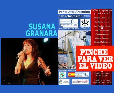 La cantante de tango Susana Granara ha viajado desde Buenos Aires para sumarse al Ponte Arte Arxentino 2019 en el Teatro Principal de Pontevedra, España