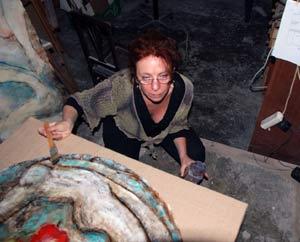 Susana Negri, artista plástica argentina que vive en el Penedés, Cataluña