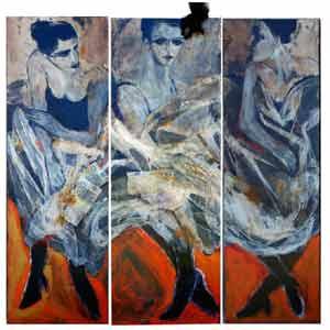 Una obra de la pintora argentina Susana Negri, que vive en el Penedés, Provincia de Barcelona, España